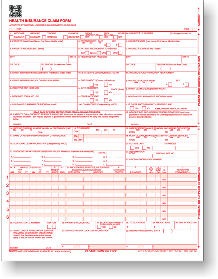 CMS-1500 Claim Forms and Other Medical Office Supplies