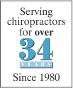 Serving Chiropractors for 30 years