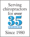 Serving Chiropractors for 35 years