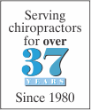 Serving Chiropractors for 37 years